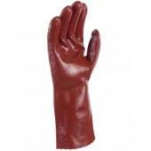 Gants PVC rouge rugueux